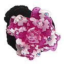 White and Dark Pink Acrylic Flower Hair Band