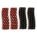 2 Pairs Tik Tak Black and Red Acrylic Hair Clip