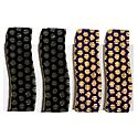 2 Pairs Tik Tak Black and Blue Acrylic Hair Clip