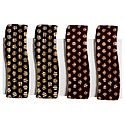 2 Pairs Tik Tak Black and Maroon Acrylic Hair Clip