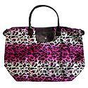 Foldable Leopard Skin Printed Rexine Bag