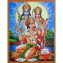 Hanuman Singing Hymns In Praise of Lord Rama