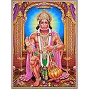 Hanuman - Poster with Glitter