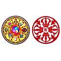 Kaalachkra and Vajra - Set of 2 Buddhist Stickers