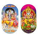 Vishwakarma and Shiv Parivar - Set of 2 Stickers