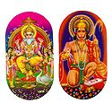 Vishwakarma and Hanuman - Set of 2 Stickers