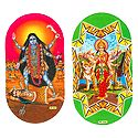 Kali and Bhagawati - Set of 2 Stickers