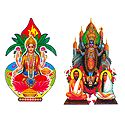 Lakshmi, Kali - Set of 2 Stickers