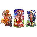 Durga, Kali and Shiva - Set of 3 Stickers