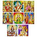 Hindu Gods and Goddesses - Set of 8 Stickers