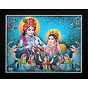 Gopinis Entertaining Radha Krishna