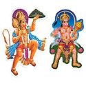 Hanuman - Set of 2 Stickers