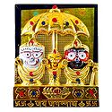 Jagannath, Balaram, Subhadra Under Umbrella