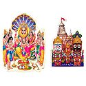 Narasimha Avatar & Jagannath, Balaram, Subhadra  - Set of 2 Stickers