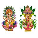 Hindu Deities  - Set of 2 Stickers