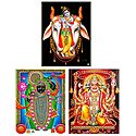 Krishna, Hanuman and Srinathji - Set of 3 Posters