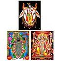 Krishna, Hanuman and Srinathji - Set of 3 Posters