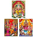 Vishwakarma, Lakshmi, Saraswati and Ganesha - Set of 3 Posters