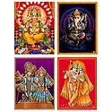 Ganesha and Radha Krishna - Set of 4 Posters