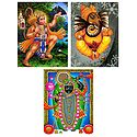 Hanuman, Ganesha and Dwarkadheesh - Set of 3 Posters