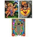 Hanuman, Ganesha and Dwarkadheesh - Set of 3 Posters