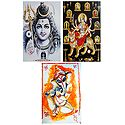Lord Shiva, Navadurga, Ganesha - Set of 3 Posters