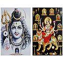 Lord Shiva and Navadurga - Set of 2 Posters