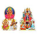 Hindu Deities - Set of Two Stickers