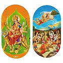 Matarani & Scene from Ramayana - Set of Two Stickers