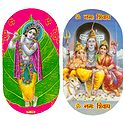 Krishna & Shiv Parivar - Set of Two Stickers