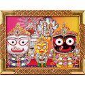Jagannath, Balaram, Subhadra with Vishnu Lakshmi - Wall Hanging