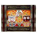Jagannath, Balaram, Subhadra with Radha Krishna - Wall Hanging