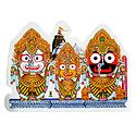 Jagannath, Balaram and Subhadra  on Sticker