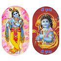 Lord Krishna - Set of 2 Stickers