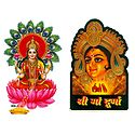 Lakshmi and Durga  - Set of Two Stickers