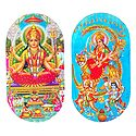 Lakshmi and Bhagawati - Set of 2 Stickers