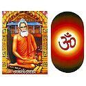 Loknath Baba and Om - Set of 2 Stickers