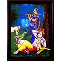 Krishna Enjoying Radha's Flute