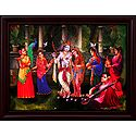 Gopinis Entertain Radha Krishna