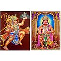 Hanuman - Set of 2 Glitter Posters
