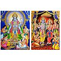 Satynarayan and Ram Darbar - Set of 2 Glitter Posters