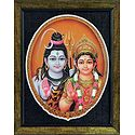 Shiva Parvati - Print on Harboard - Wall Hanging