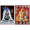Lord Shiva - Set of 2 Glitter Posters