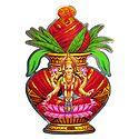 Lakshmi on Kalash with Coconut