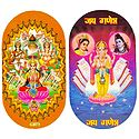 Hindu Deities and Ganesha - Set of Two Stickers
