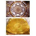 Ceiling of Akshardham Temple, New Delhi - 2 Small Posters