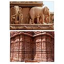 Wall Sculpture at Akshardham Temple, New Delhi - 2 Small Posters
