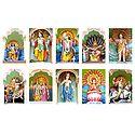 Dashavatar - Ten Incarnations of Lord Vishnu - Set of 10 Photo Prints