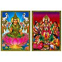 Lakshmi and Satyanarayan - Set of 2 Posters