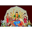 Photo Print of Buddhist Style Devi Durga with Her Family
